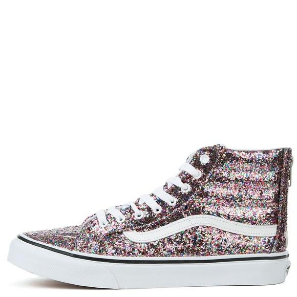 Vans Shoes | High Top Sparkly Vans